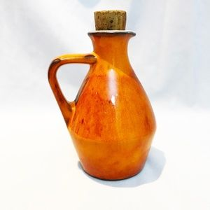 Hand Crafted Ceramic Vintage Bottle with Cork